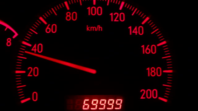digital odometer mileage of seventy thousand video