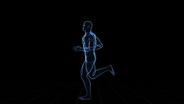 Digital running man video