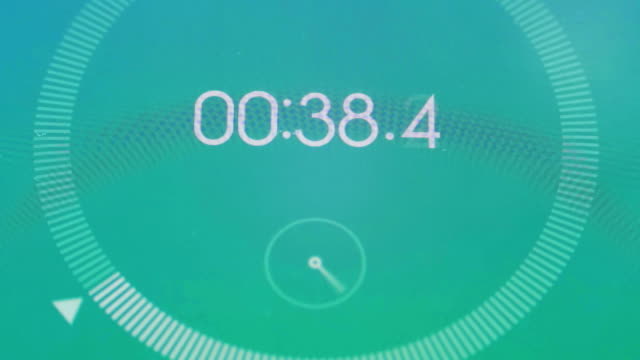 Digital stopwatch macro video