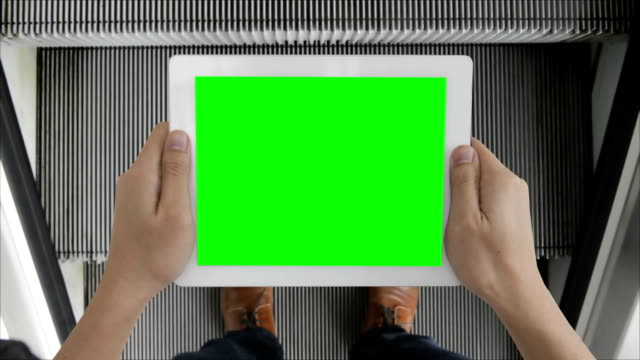 Digital tablet green screen to show your idea video