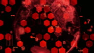 Digital Technology,abstract background red color video