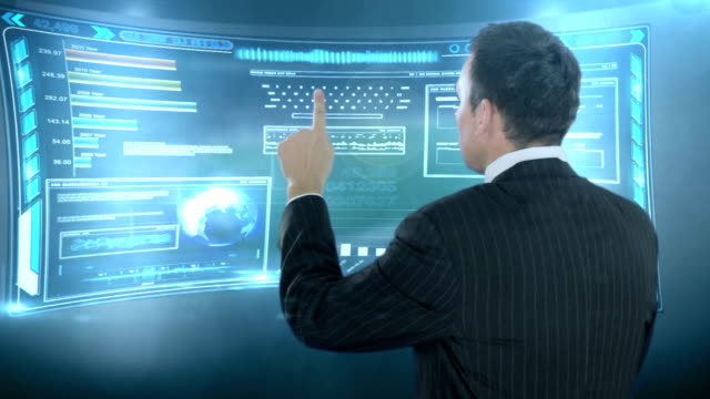 Digital Touch in virtual space. video