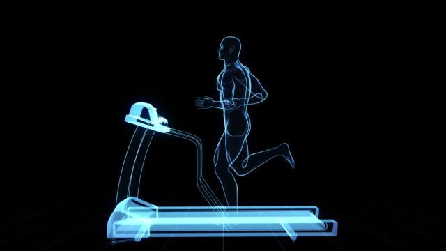 Digital Treadmill jog video