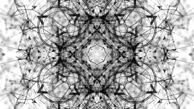 digital triangles shapes moving kaleidoscope geometrical background video