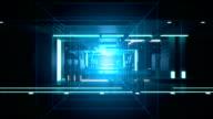Digital tunnel Technology background loop video