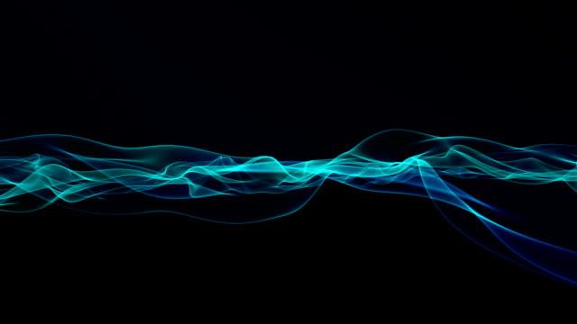 Digital waves on black background. video