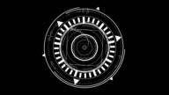 digital wire geometrical shape transition video