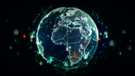 Digital World Networks of People Blue video