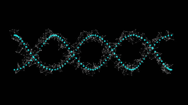 Digitally generated dna structure video