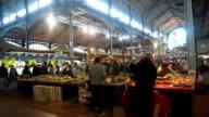Dijon indoor market in France video