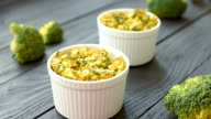 Dilicious dinner - baked broccoli and cheese video