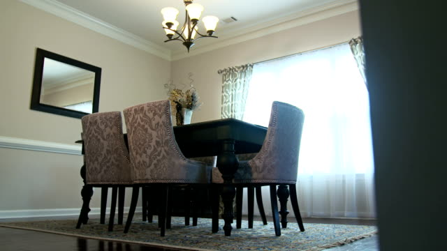 Dining Room Low Angle Move Left Reveal video