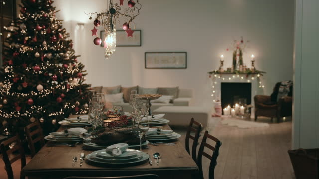 Dining room on christmas eve video