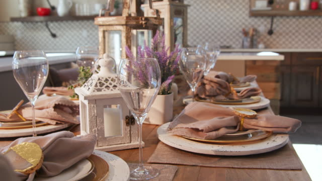 Dining Room Table Setting Detail Corner video