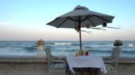 Dinner set on the beach video