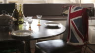 Dinner table in the captains room on the tall sailing ship vessel video