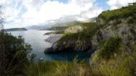 Dino Island and Blue Sea, Isola di Dino, Praia a Mare, Calabria, South Italy, Real Time, 4k video