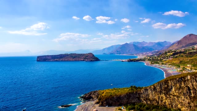 Dino Island and Blue Sea, Isola di Dino, Praia a Mare, Calabria, South Italy, Time Lapse video