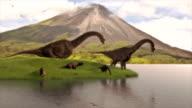 dinosaurs drinking water video