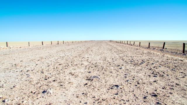 WS DS Dirt Road At Etosha Pan video