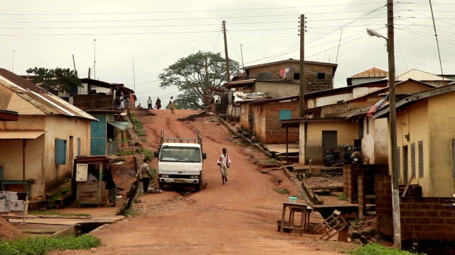 A dirt road in the Central Region of Ghana video