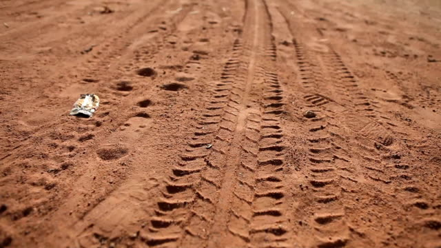 Dirt Road Tire Tracks video