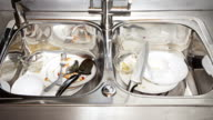 Dirty dishes time-lapse video