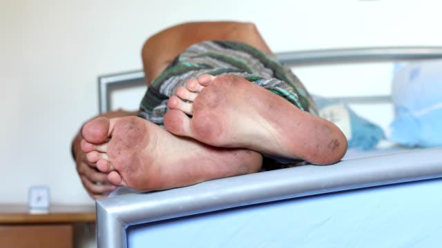 Dirty feet and feet fungus video