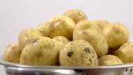 dirty potatoes in a colander video