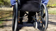 Disabled person in wheelchair video