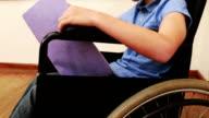 Disabled pupil smiling at camera video