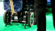 Disabled scooter getting off the car video