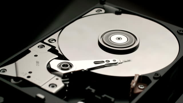 Disassembled hard disk drive reading head video