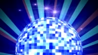 Disco Ball and Sunburst Background video