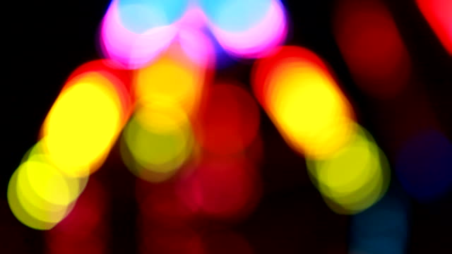 Disco defocused lights video