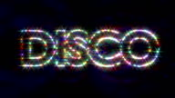 Disco logo text sparkling glitter multicolor video