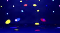 disco spotlights over dance floor video