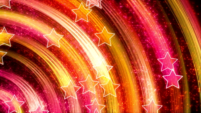disco stars abstract loopable background yellow pink video