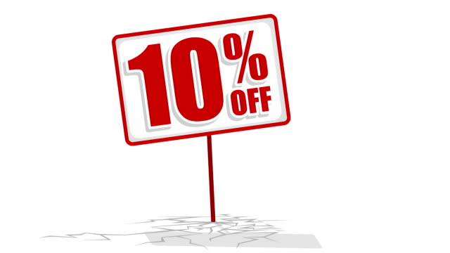 10 % discount sign video