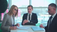 Discussing Business Contract video