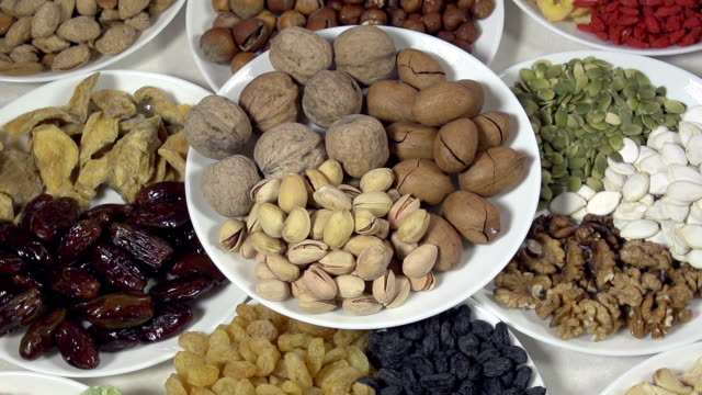 Dish with Nuts and Dried Fruits video