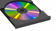 CD disk on white background video