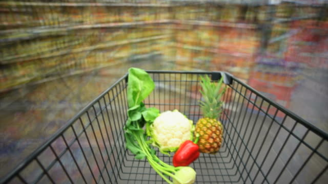 HD Disorientation in Supermarket Time Lapse video