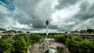 Dispatching Tower in the Kuala Lumpur International Airport KLIA. FullHD Timelapse - Kuala Lumpur, Malaysia video