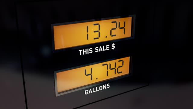 Display of Gas Pump video