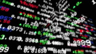HD 1080, Display of Stock Exchange Tickers Board video
