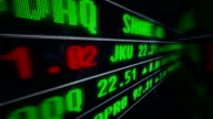 Display stock price on LED screen. video