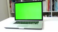 DOLLY: Display your message on laptop screen Chroma Key video