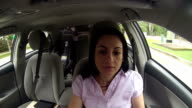 Displeased woman in the car video
