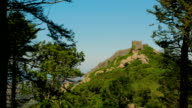Distant Shot of the Mouros Castle (Castelo dos Mouros) in Sintra, Portugal video